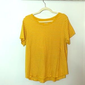 Old Navy yellow and white striped T-shirt xl